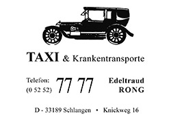 Taxi Krankentransporte Rong